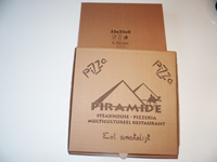 Piramide Pizza Kutusu (33x33x3)<br/>Piramide Pizza Dozen (33x33x3)